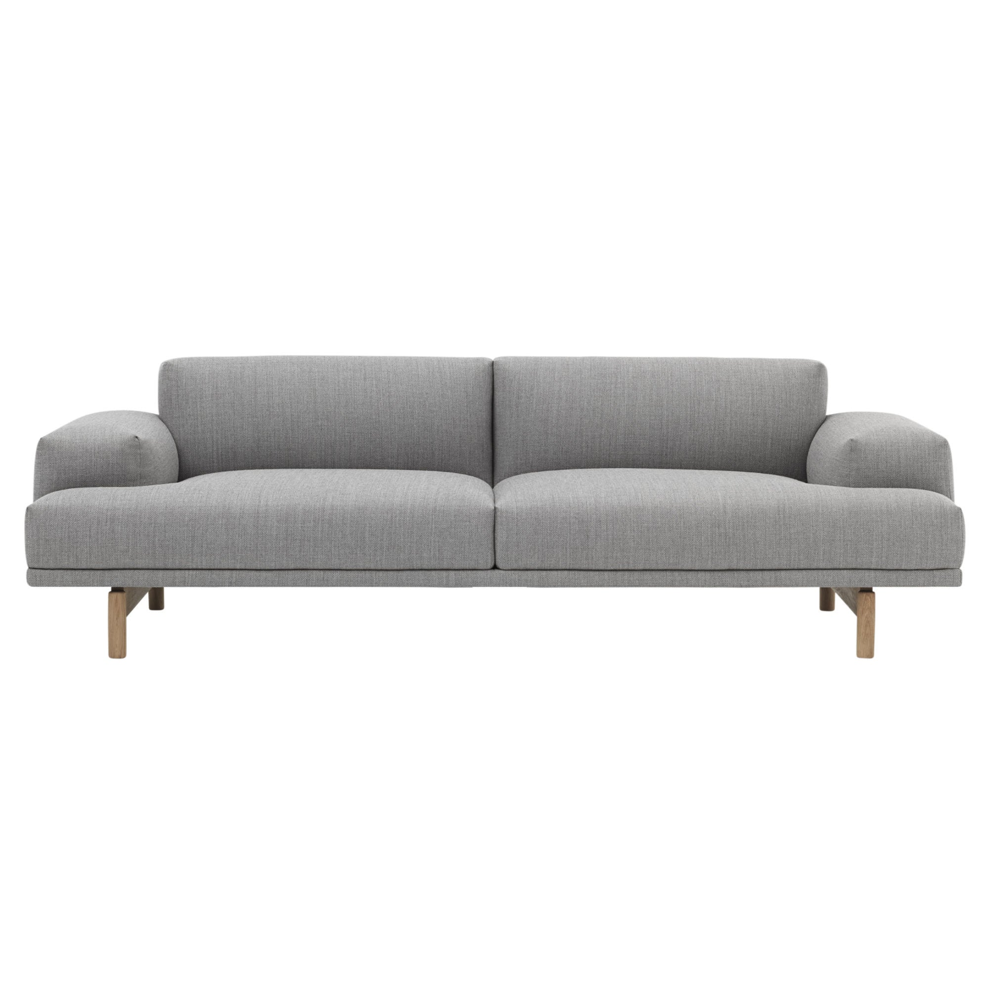 Muuto Compose sofa, 3-seater, fiord 151, oak legs