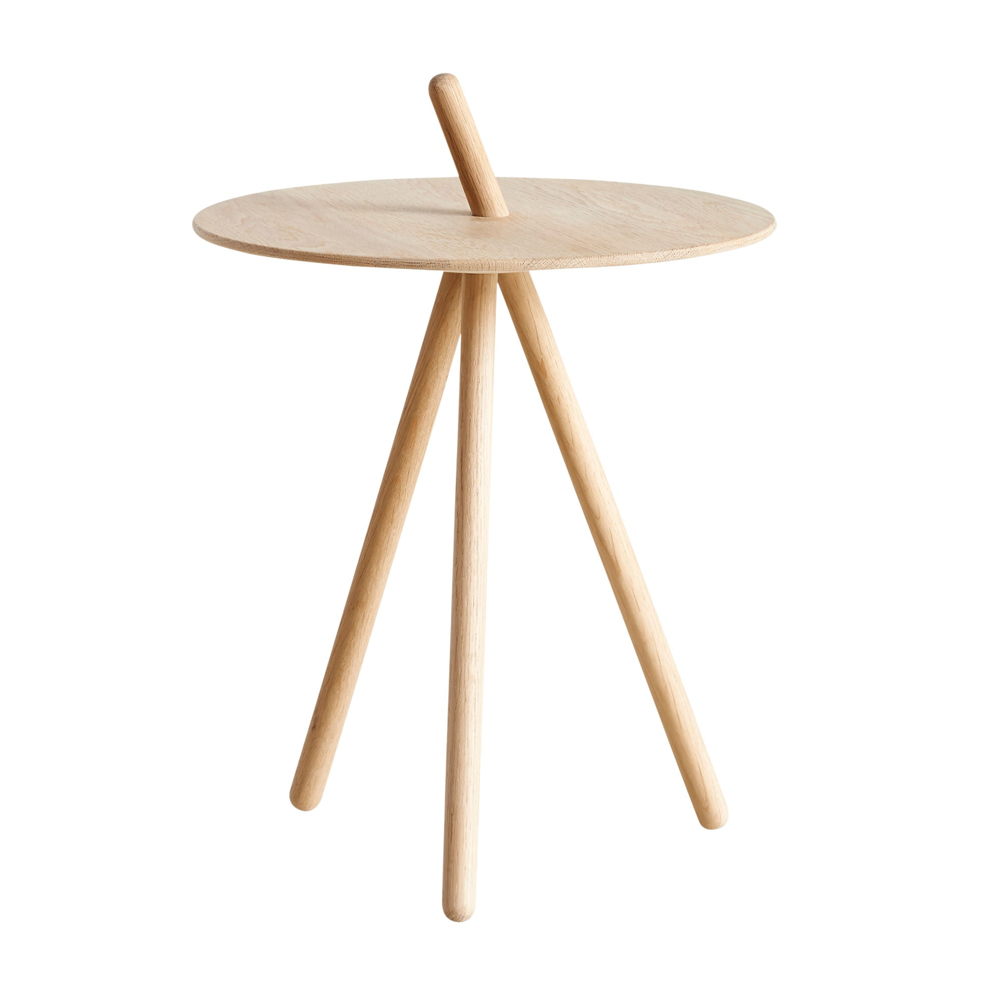 Woud Come Here Side Table , White Pigmented Oak