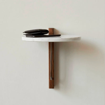 Menu Corbel Shelf , Dark Oak/Marble
