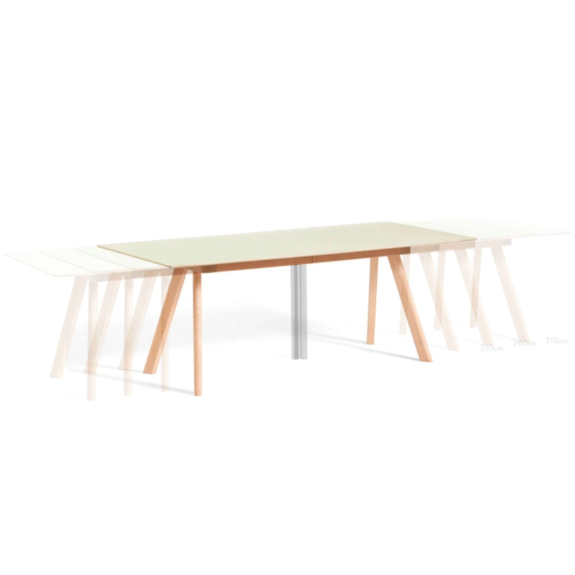HAY Cph30 Extendable Table L160/310xW80 , Off White Linoleum-Matt Lacquered Oak