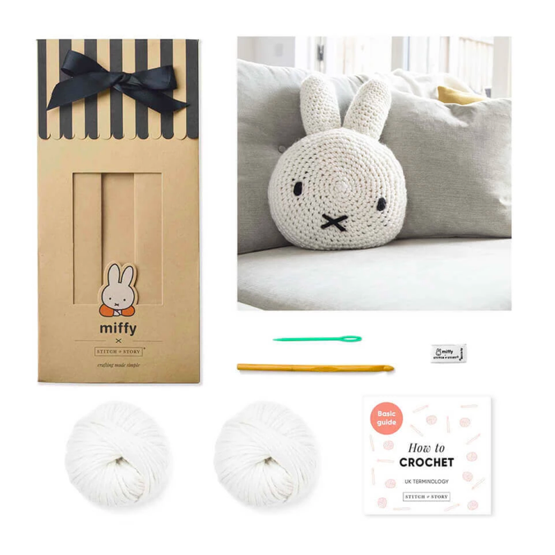 Stitch & Story UK Miffy cushion cover crochet kit
