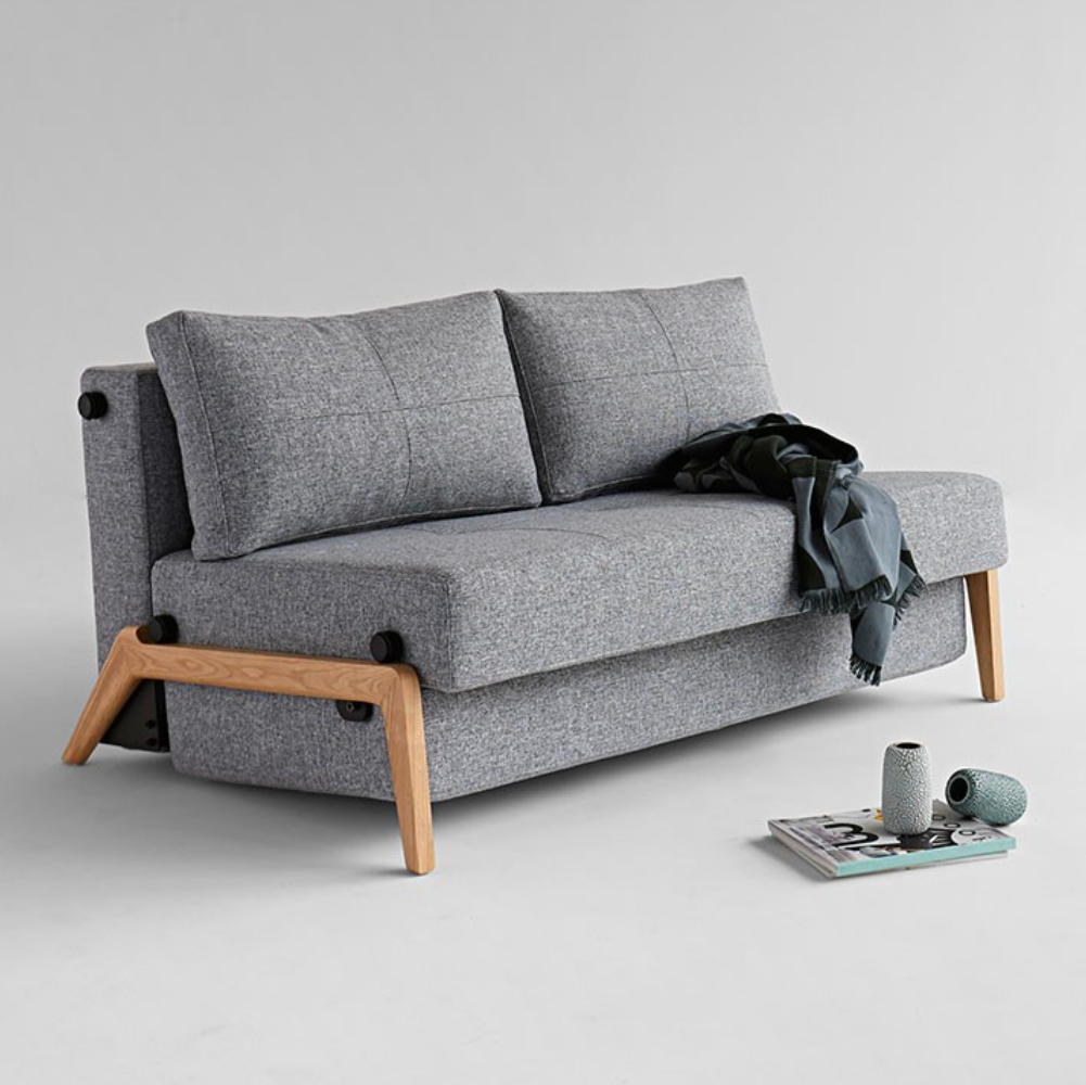 Innovation Living Cubed 02 Sofabed, 140cm, oak leg