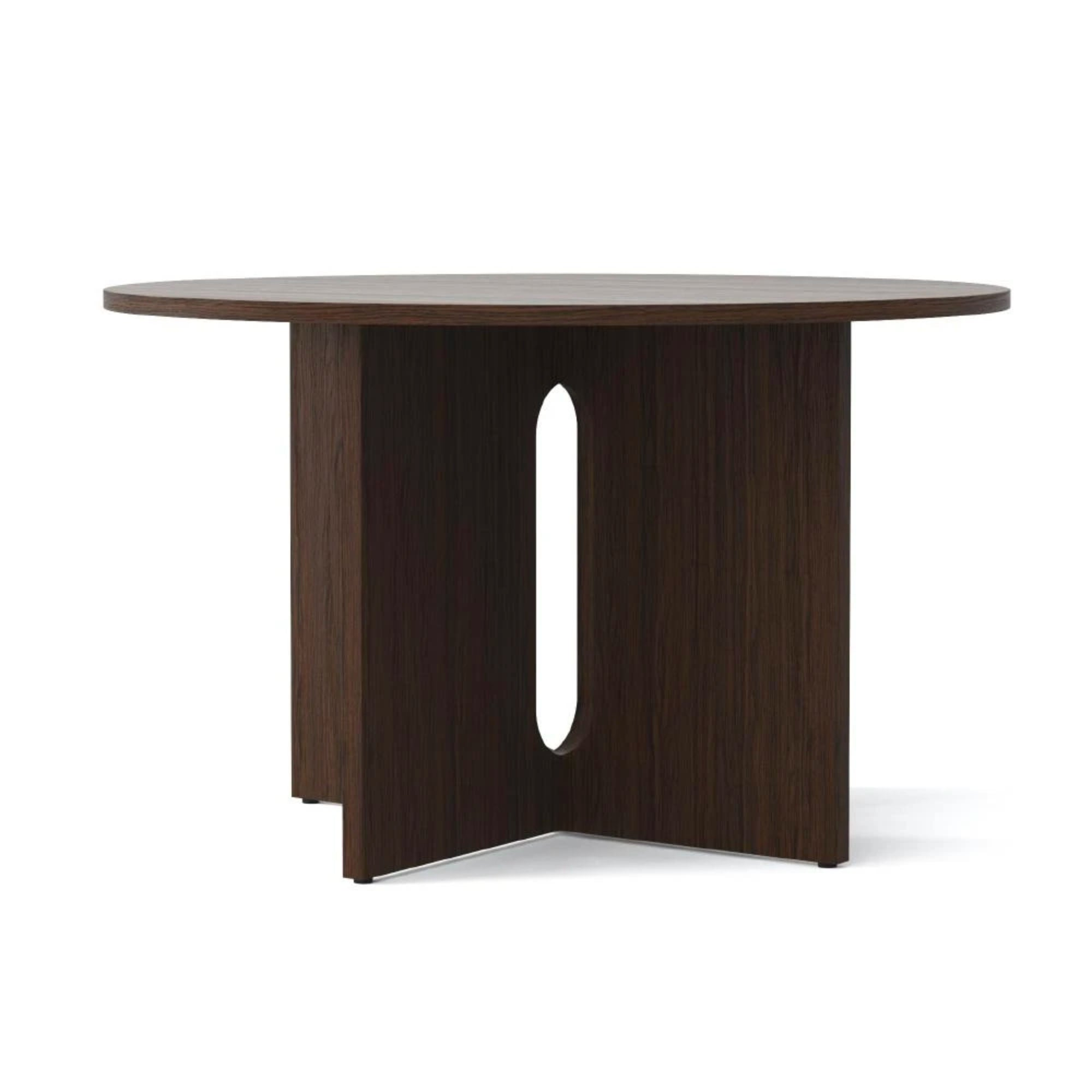 Menu Androgyne Round Dining Table Dia.120cm , Dark Oak