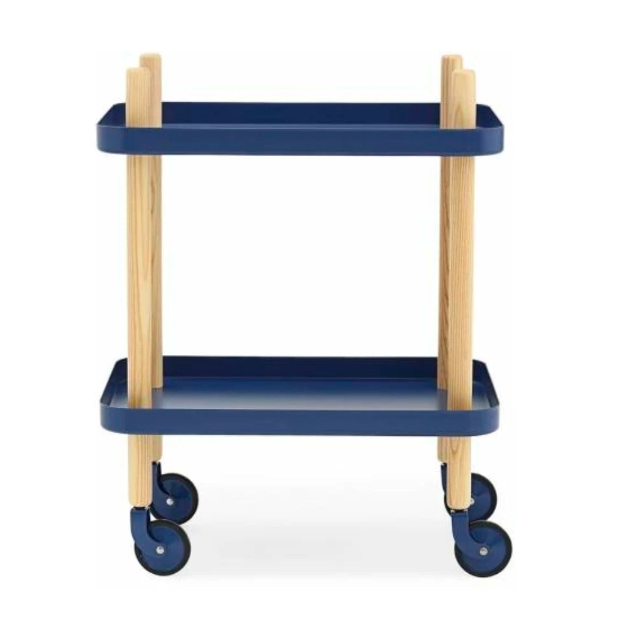 Normann Copenhagen Block Table , Dark Blue-Oak
