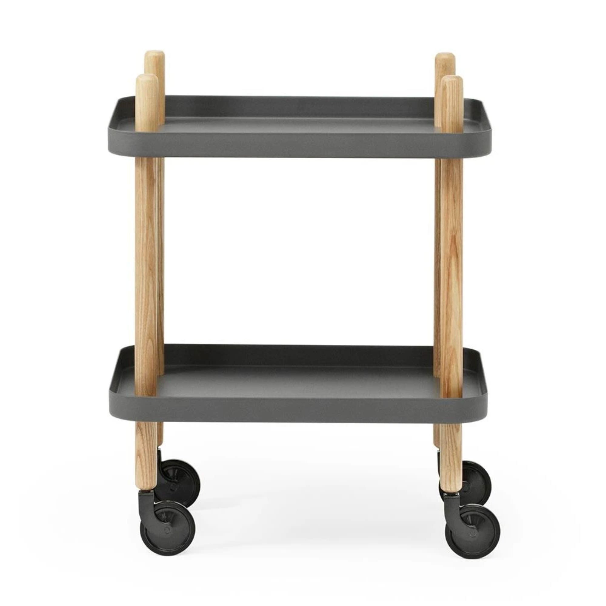 Normann Copenhagen Block Table , Dark Grey-Oak