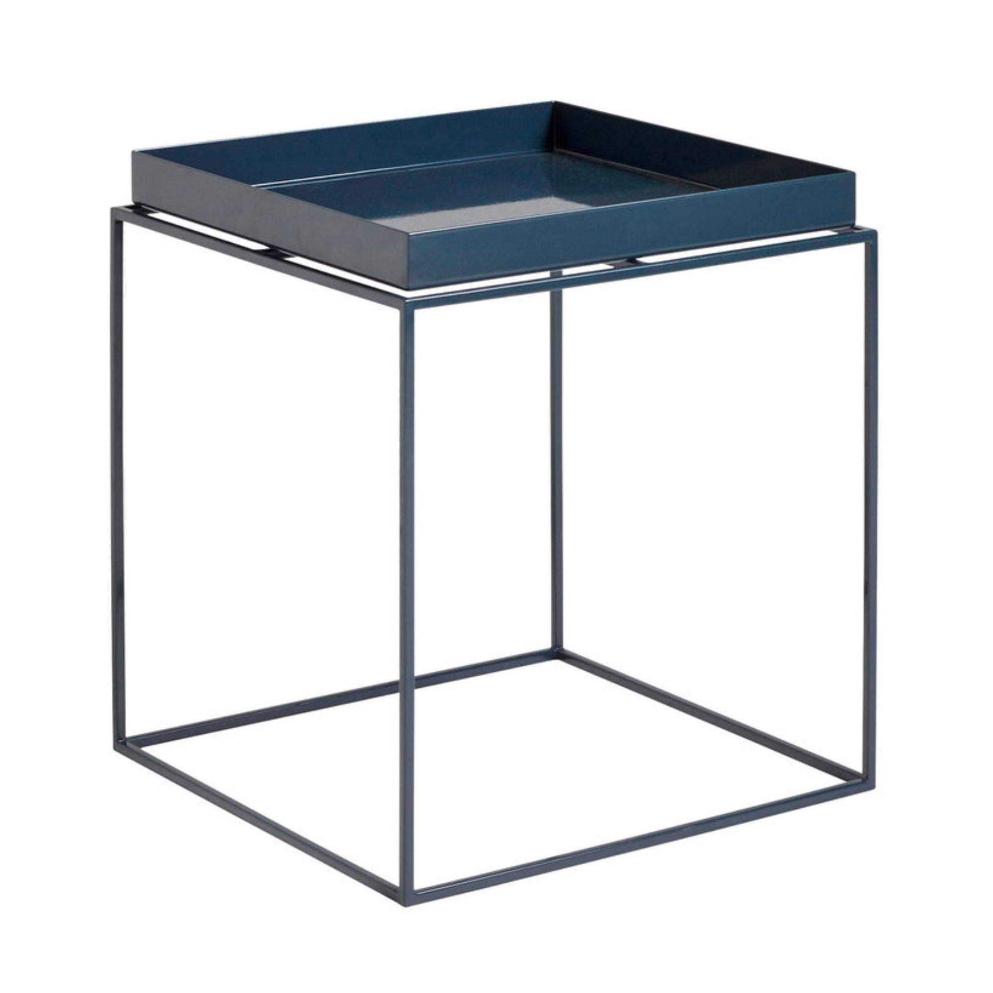 Hay Tray Table Side Table M , Deep Blue High Gloss