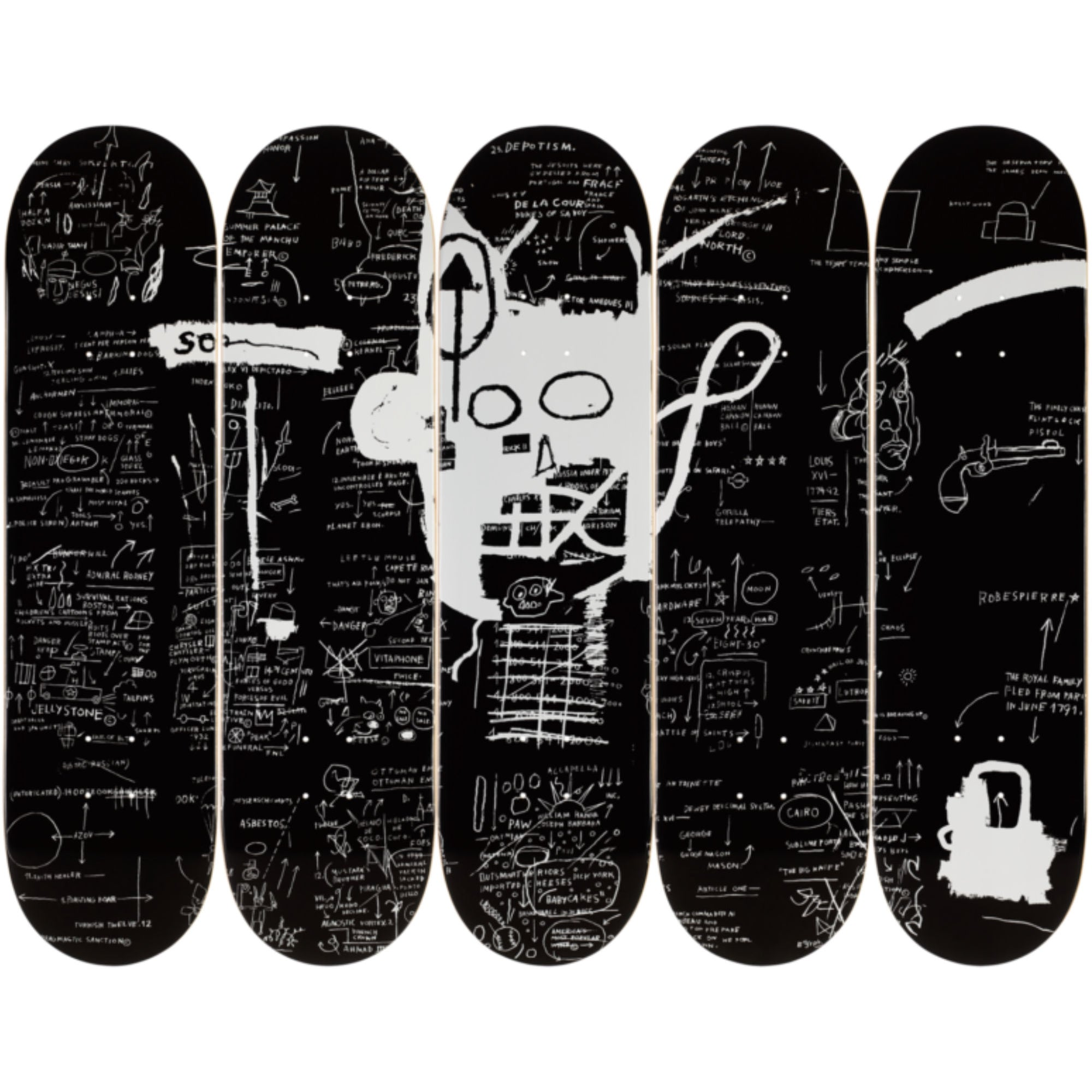 The Skateroom skateboard set, Jean-Michel Basquiat Demon