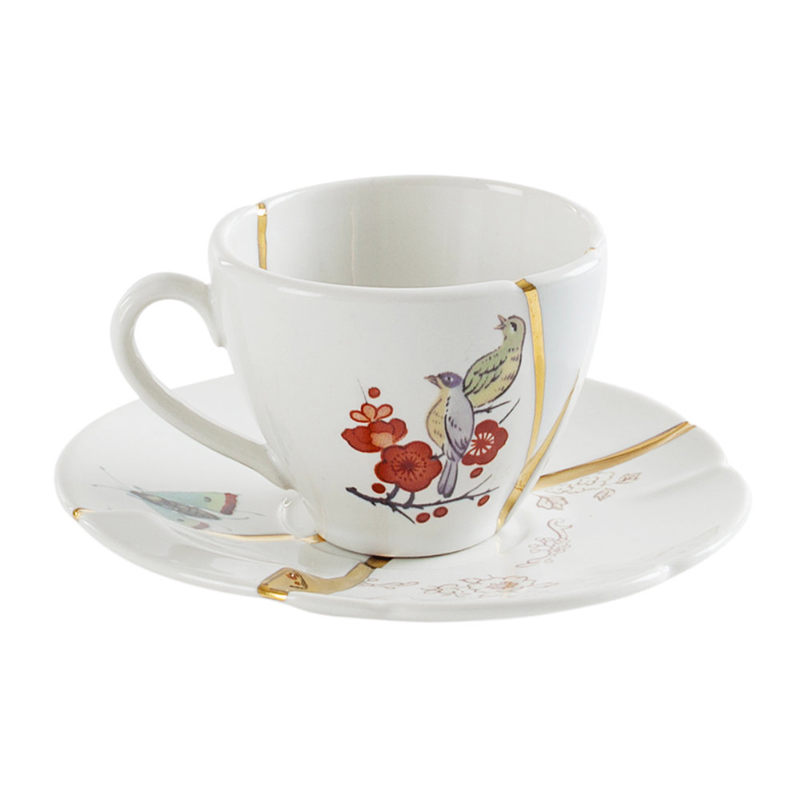 Seletti Kintsugi coffee cup with saucer