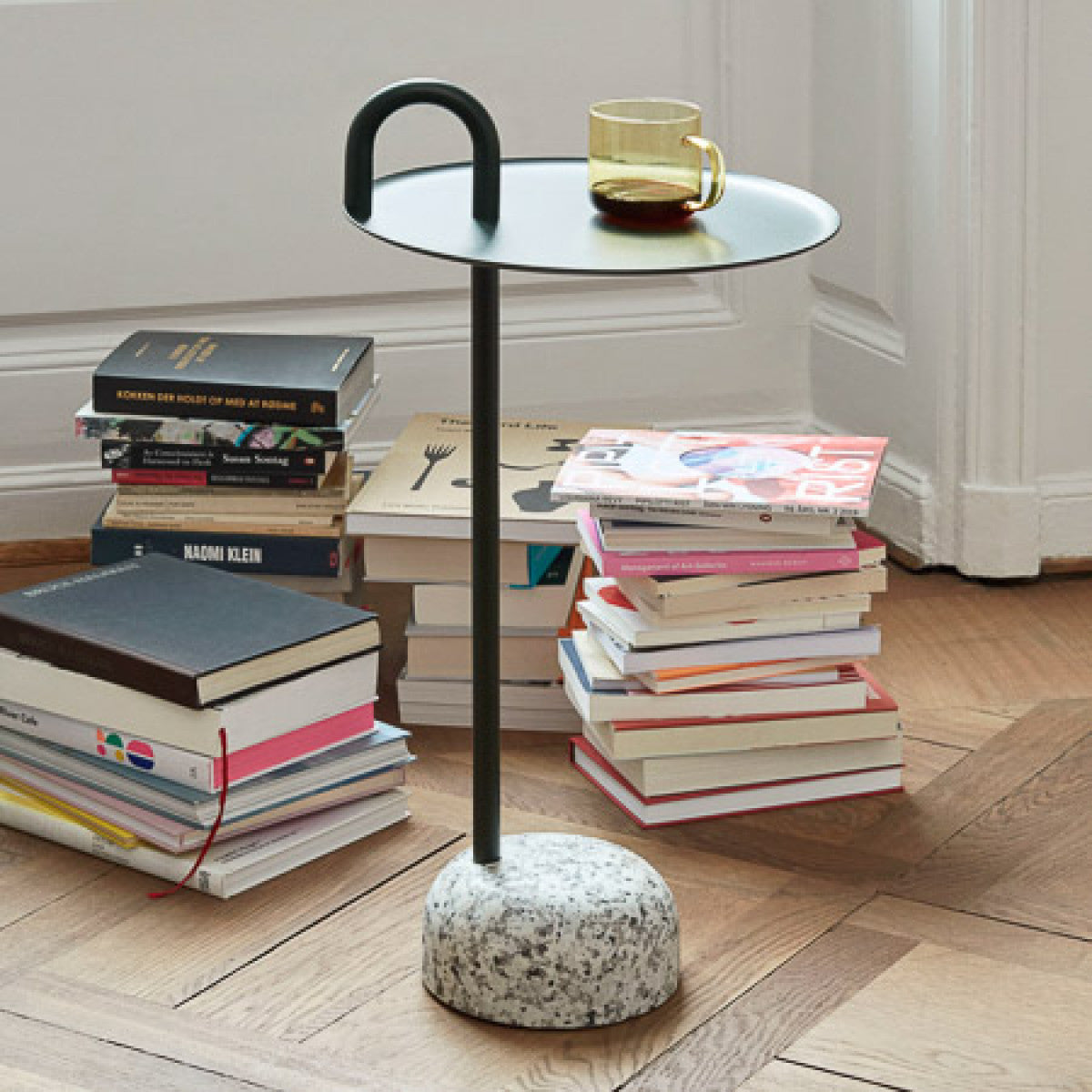 HAY Bowler Side Table Ø36xh70.5cm , Black