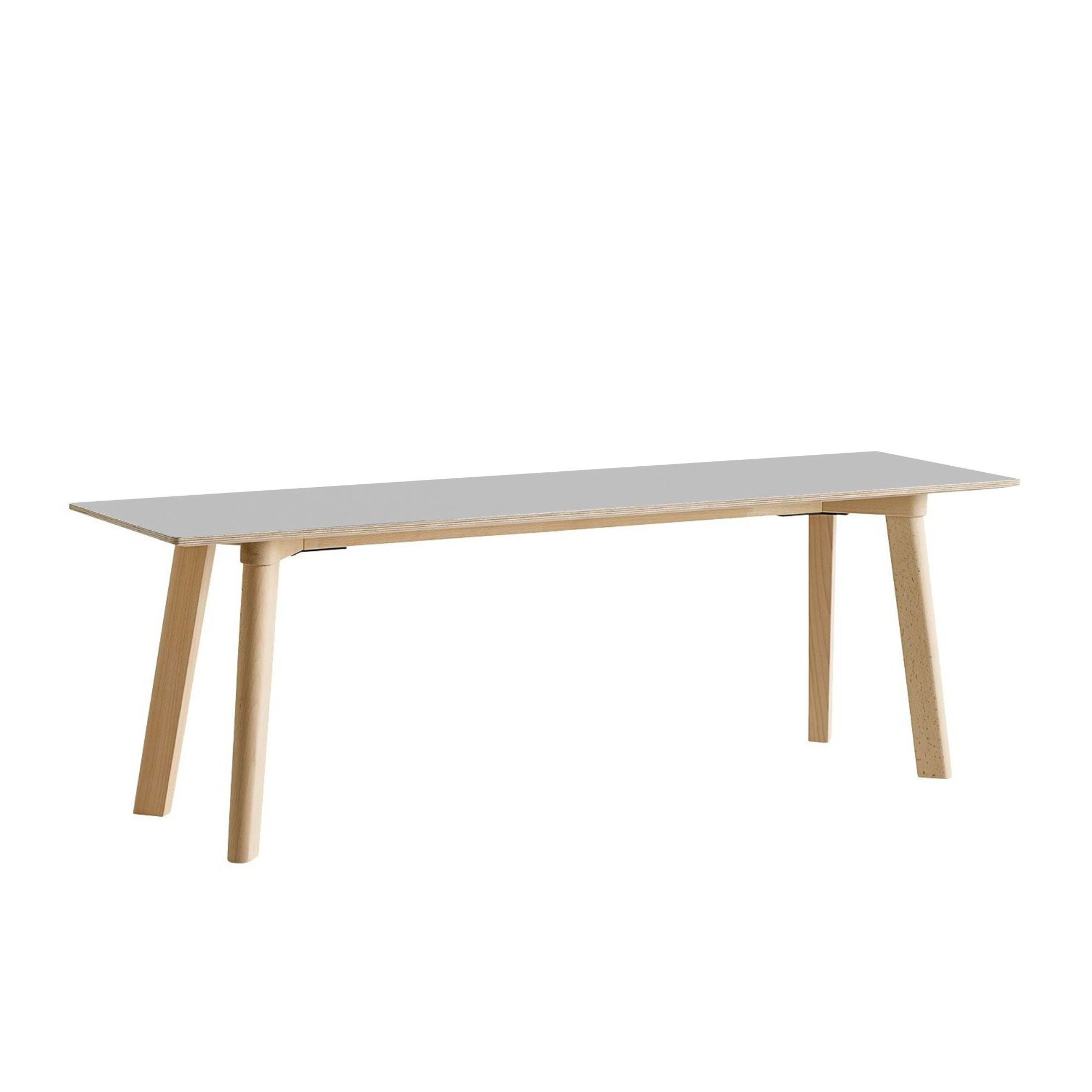CPH DEUX215 Bench, Dusty grey laminate top - Matt Lacquered Solid oak leg