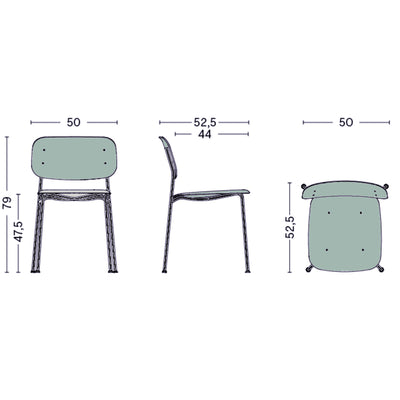 Hay Soft Edge P10 Chair , Dusty Green-Black