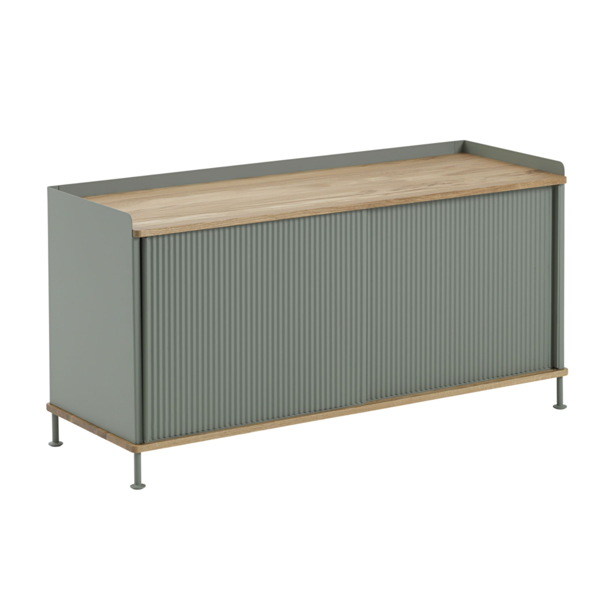 Muuto Enfold Sideboard Low , Oak/Dusty Green