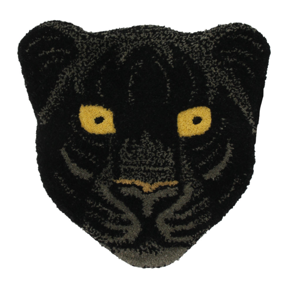 Doing Goods Black Panther Head Rug 32x32cm