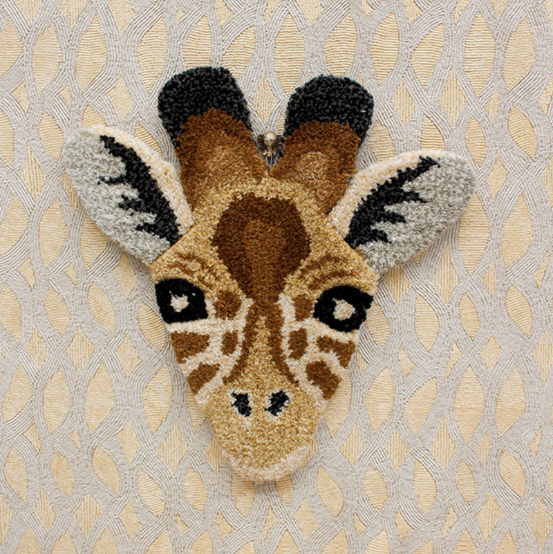 Doing Goods Giraffe Head Rug 32x32cm
