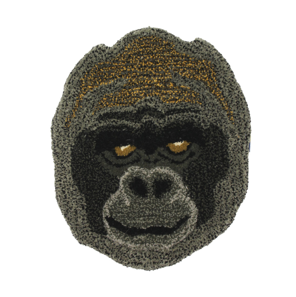 Doing Goods Gorilla Head Rug 32x32cm