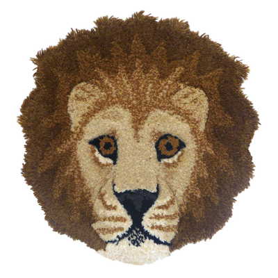 Doing Goods Lion Head Rug 32x32cm