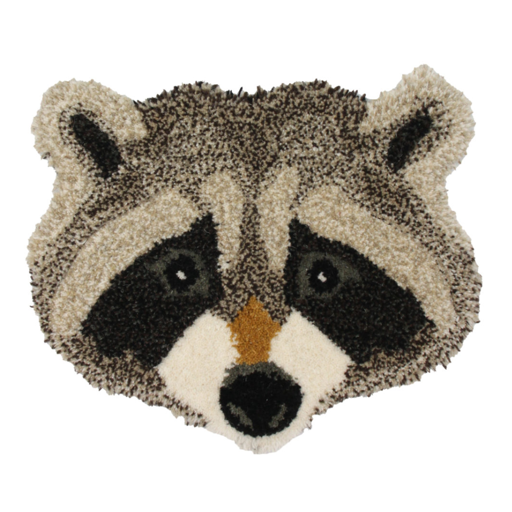 Doing Goods Racoon Head Rug 32x32cm