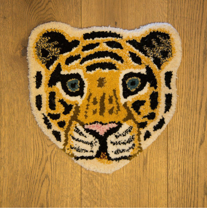 Doing Goods Tiger Head Rug 32x32cm