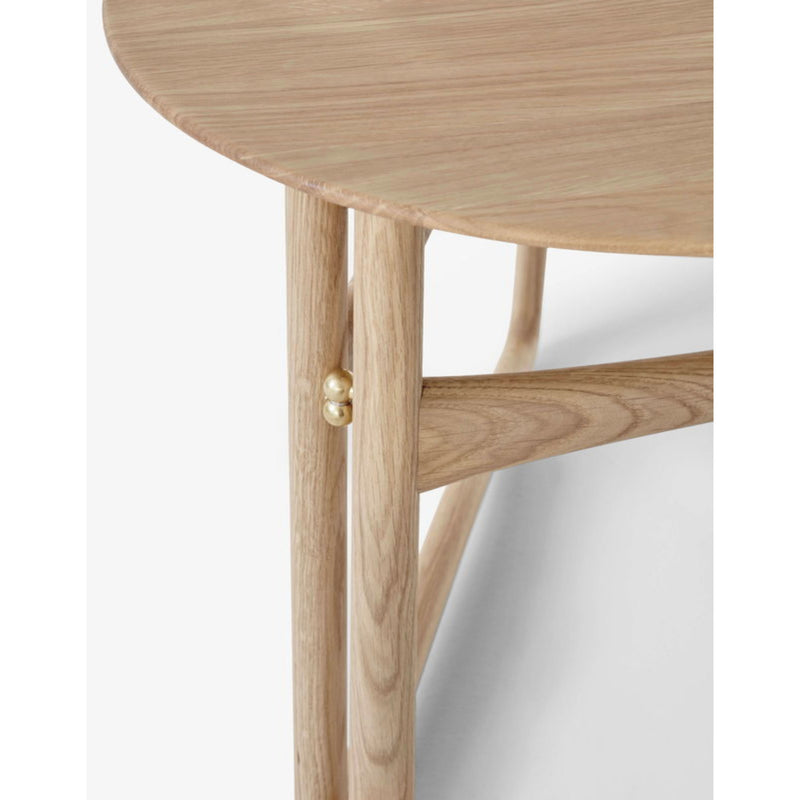 &Tradition Drop Leaf HM5 side table, white oiled oak