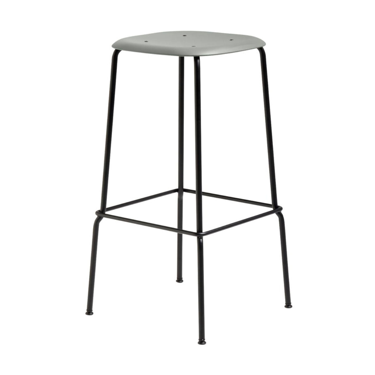 Hay Soft Edge P30 bar stool, dusty green, black