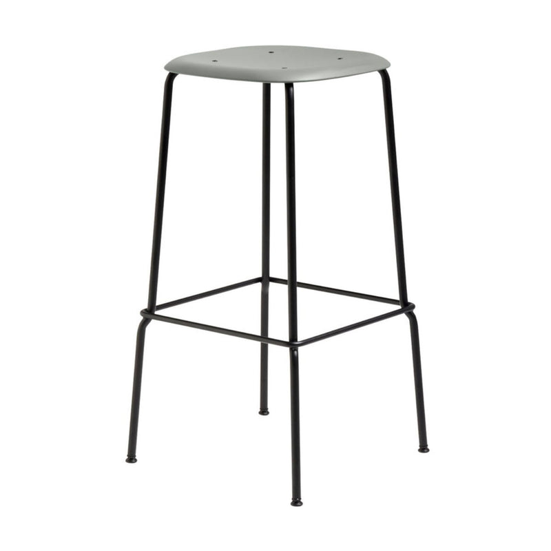 Hay Soft Edge P30 bar stool, dusty green