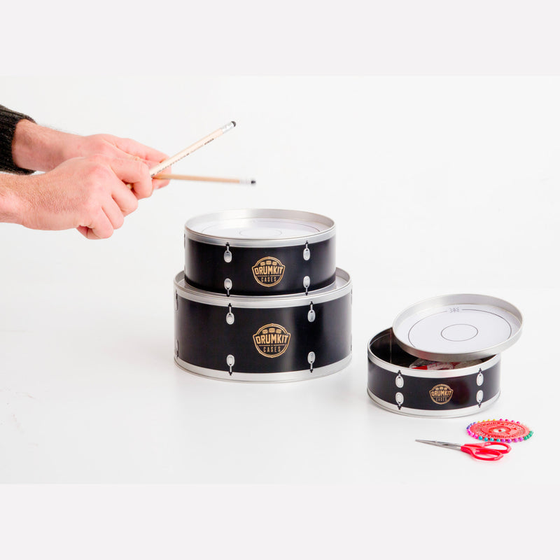 Suck UK Drumkit Storage Tins Set of 3