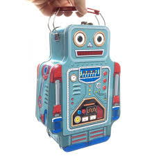 Suck UK Robot Tin lunch box
