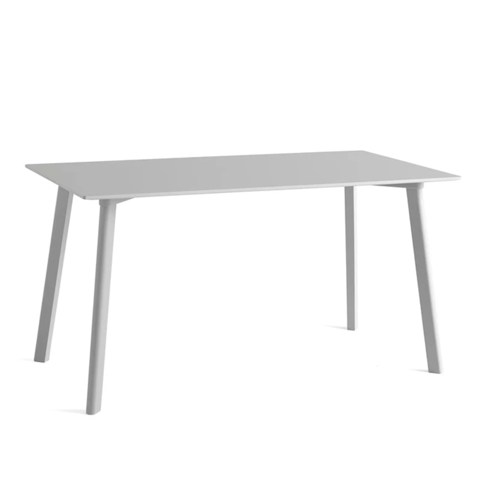 CPH Deux 210 table L140 x W75 , Dusty Grey Laminate-Dusty Grey Stained Beech
