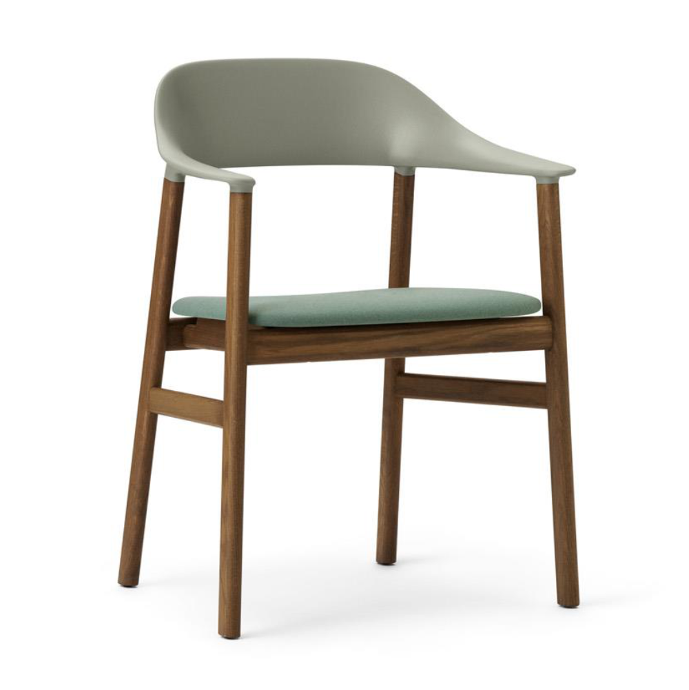 Normann Copenhagen Herit Armchair Smoked Oak Frame Fabric Seat