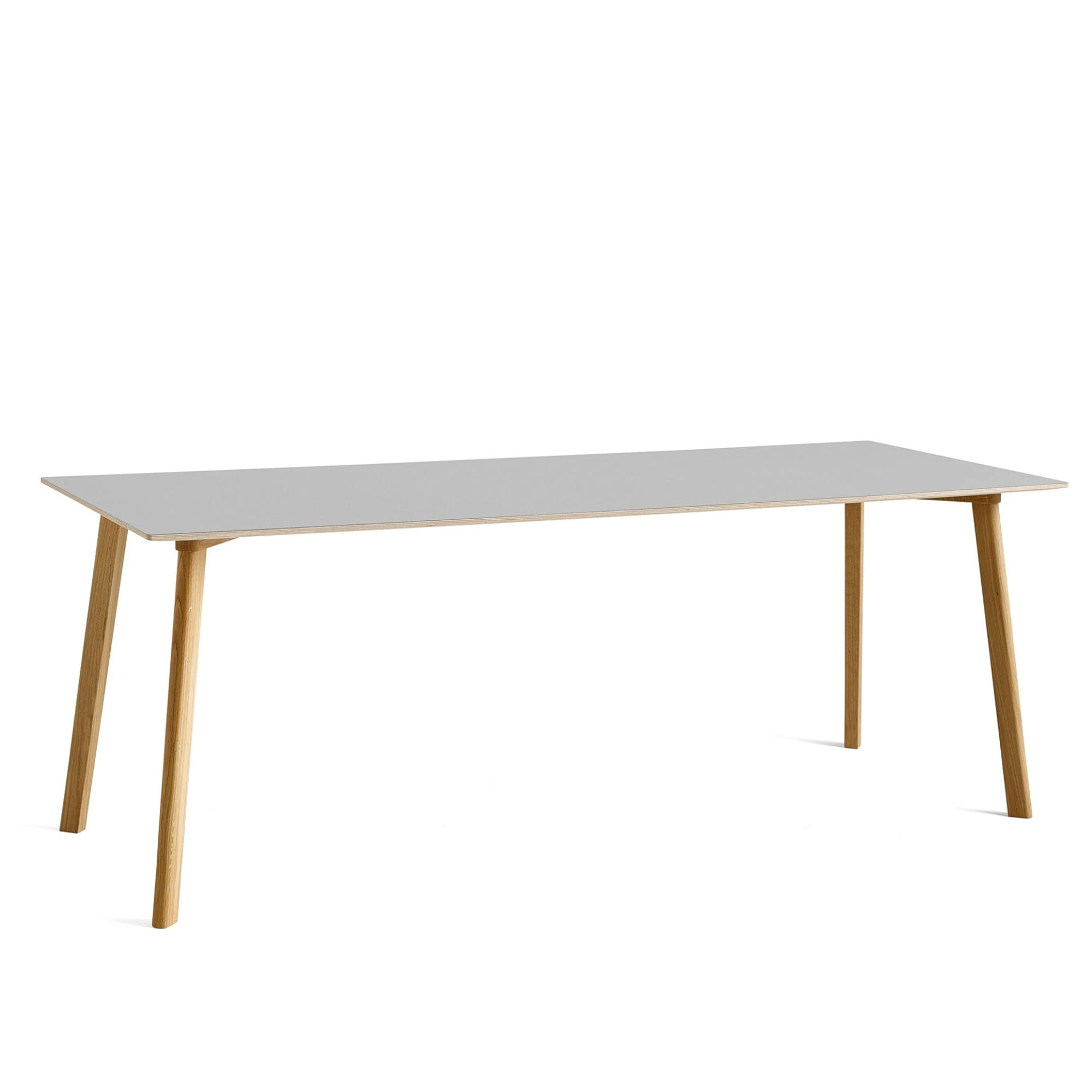 CPH Deux 210 table L200 x W75 , Dusty grey - Matt lacquered oak