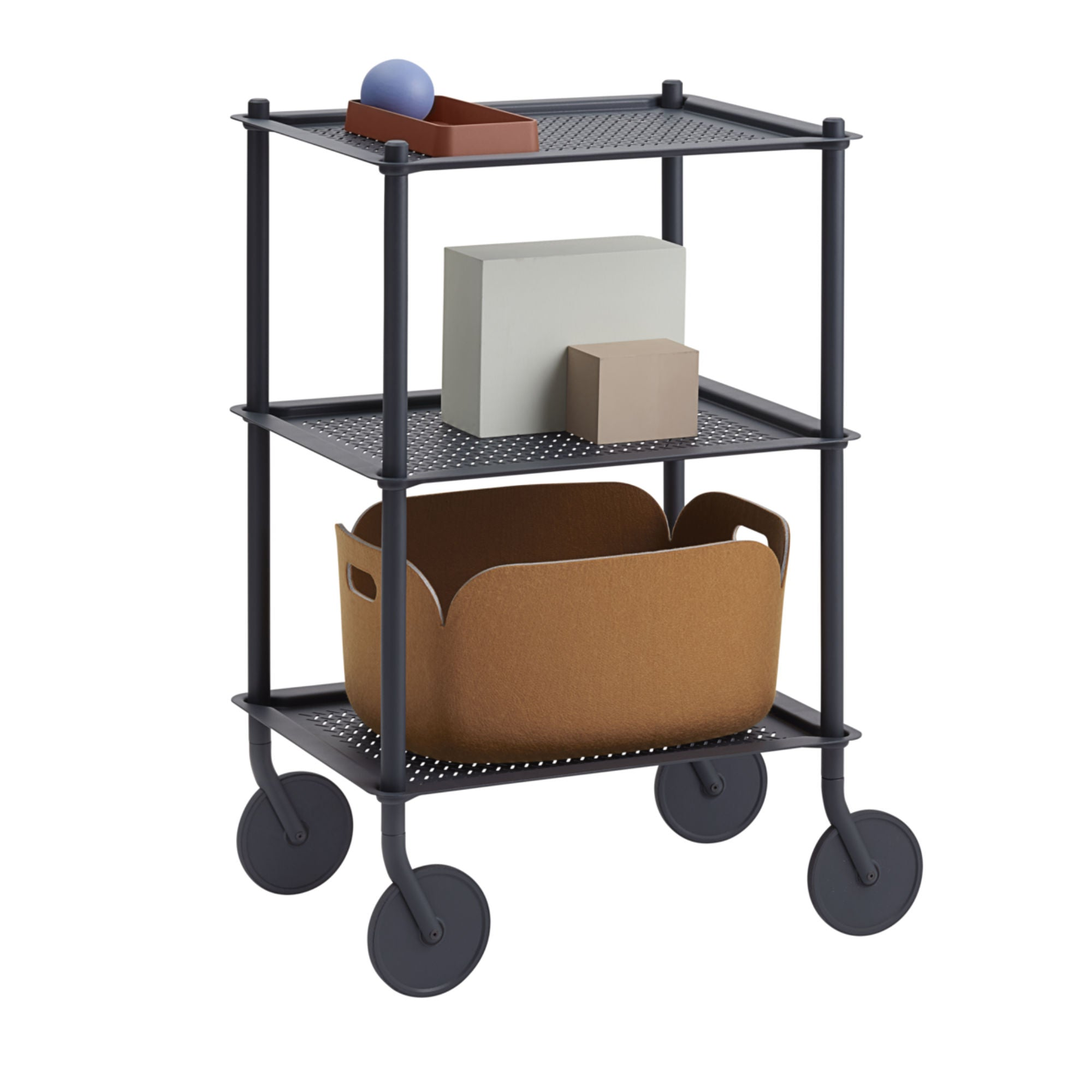 Muuto Flow Trolley 3-Layer , Blue Grey