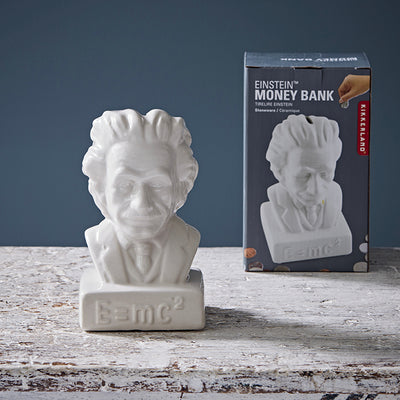 Kikkerland Einstein Ceramic Coin Bank