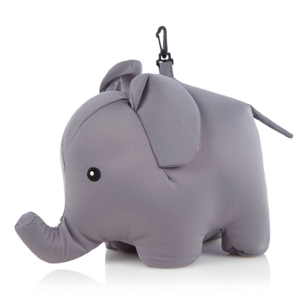 Kikkerland Zip & Flip Elephant Travel Pillow