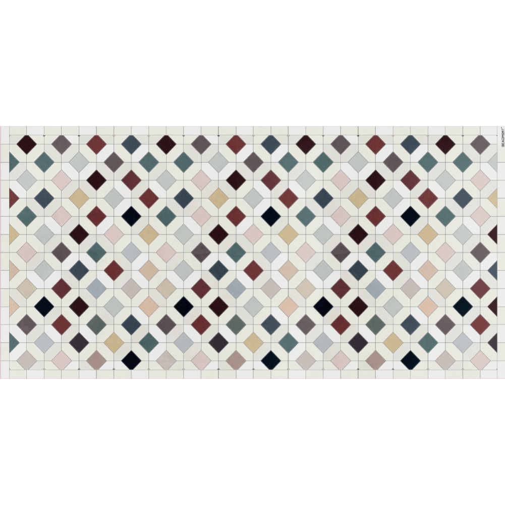 Podevache Vinyl floor mat 99 * 198cm, colorful tile