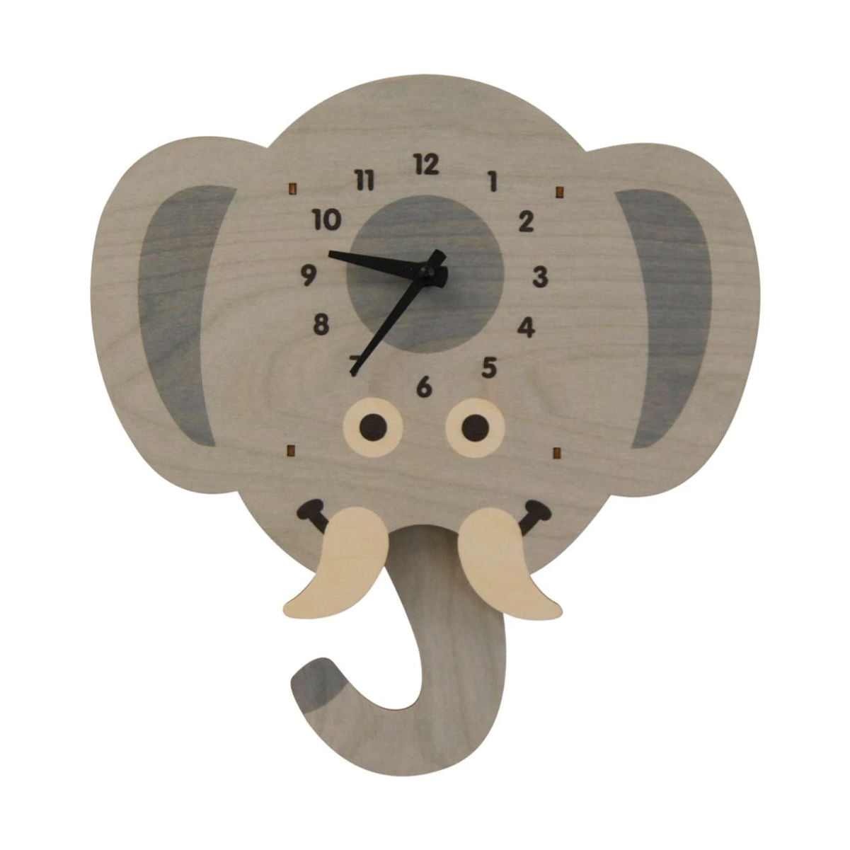 Modern Moose Pendulum Clock , Elephant Head