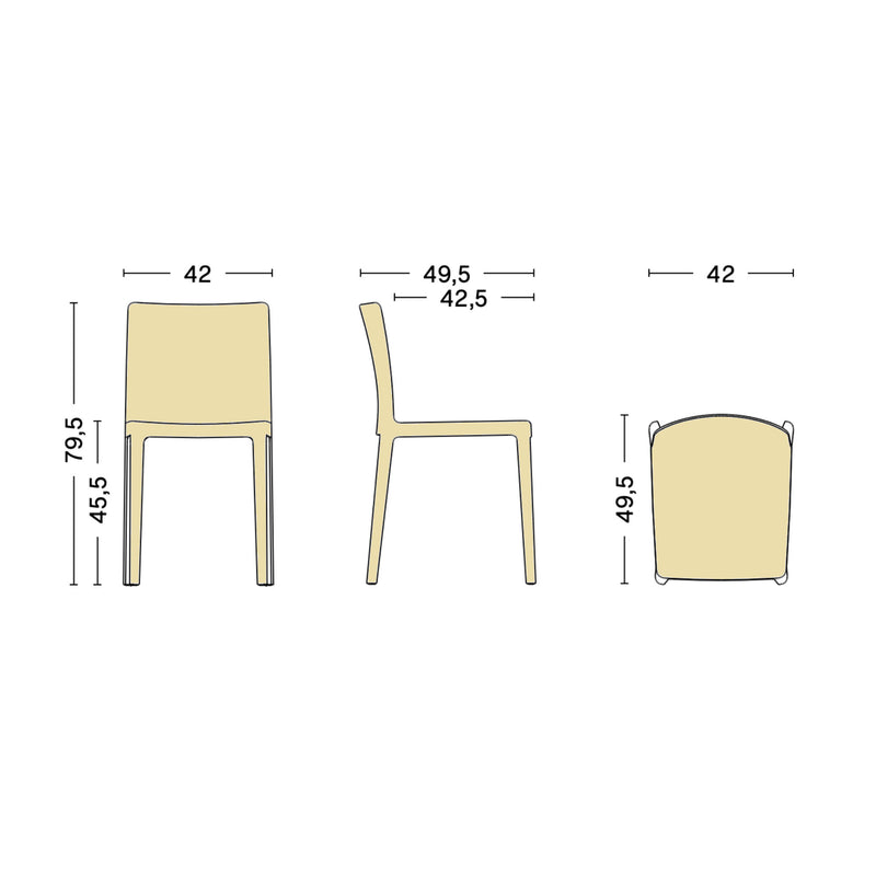 HAY Elementaire Chair , Light Yellow