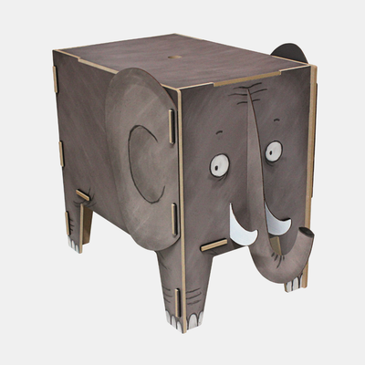 Werkhaus Animal Stool + Toy box . Elephant