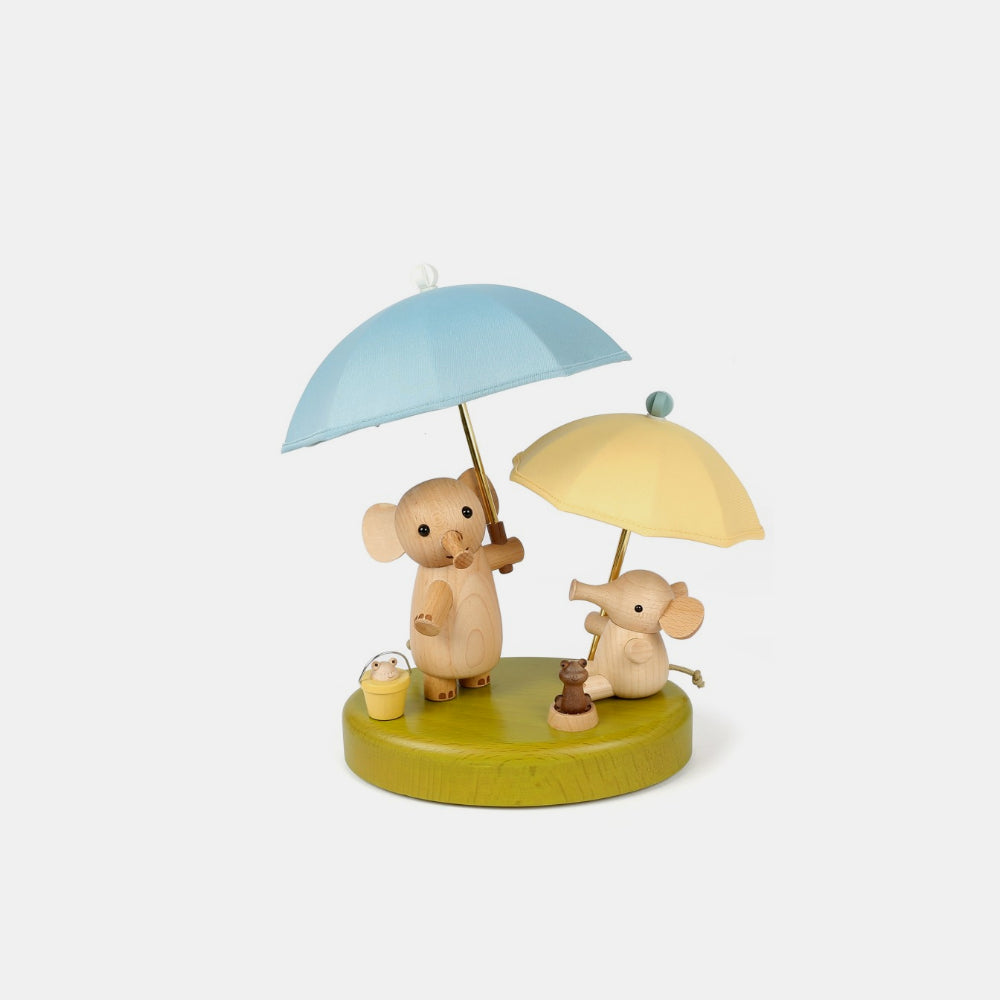 Wooderful Life Elephant Umbrella Wooden Lamp