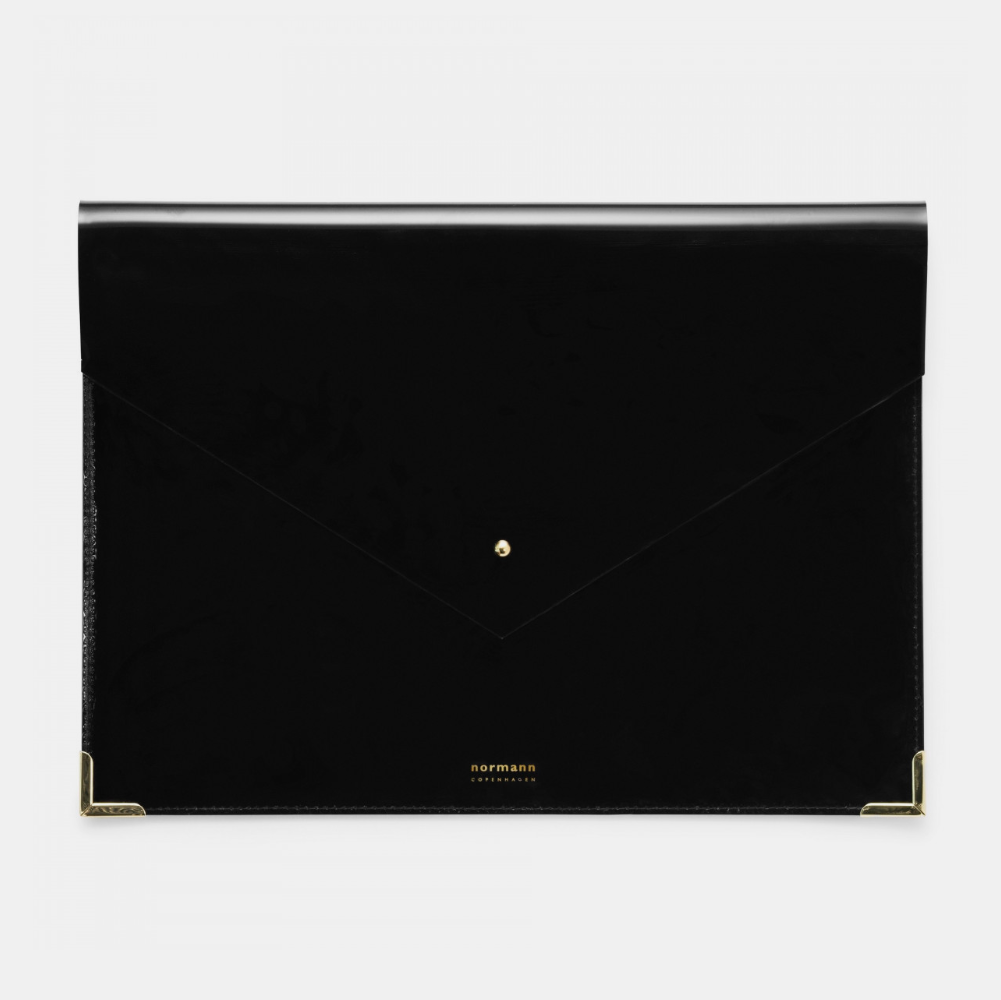 Normann Copenhagen Large Envelope Folder . Black