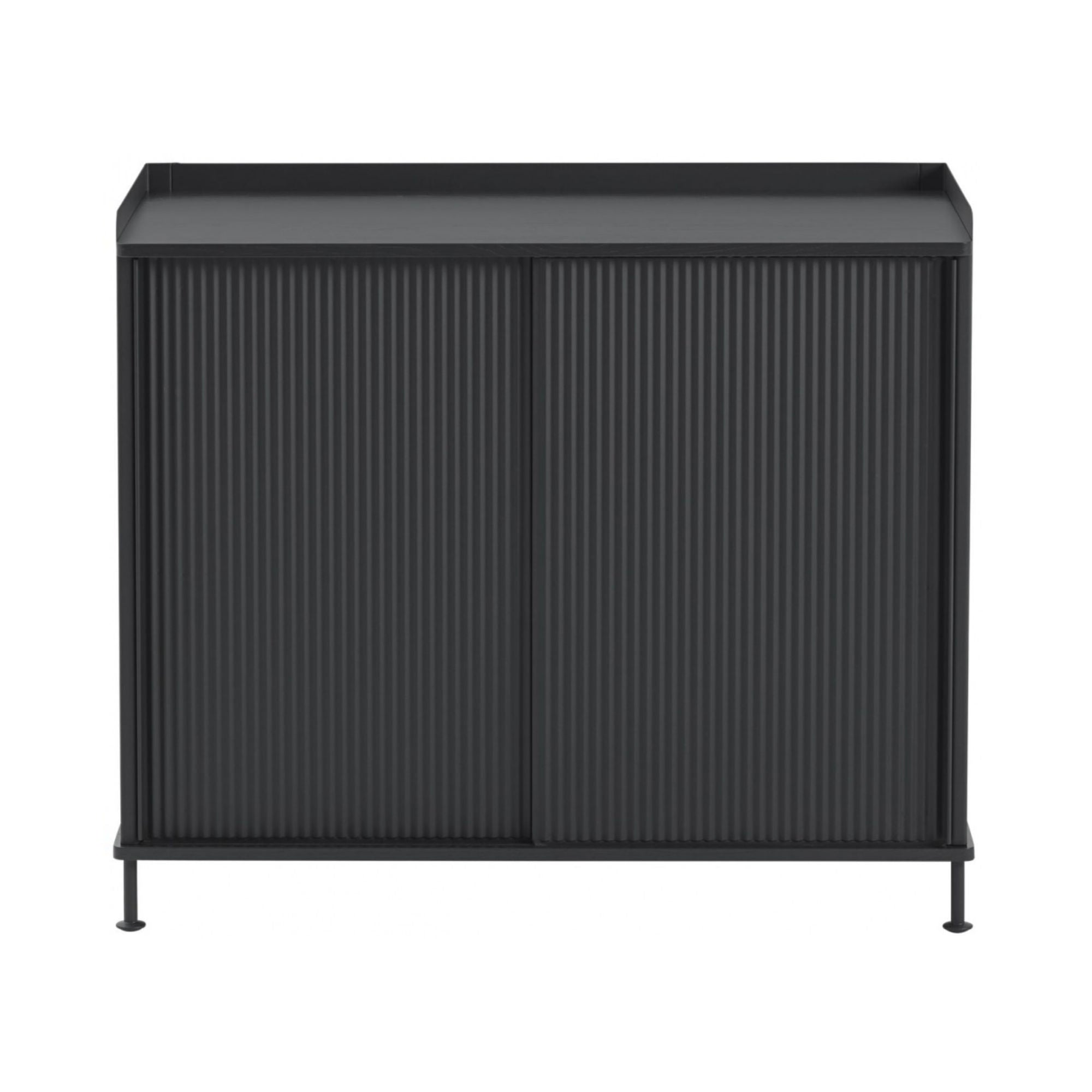 Muuto Enfold Sideboard High , Black-Black
