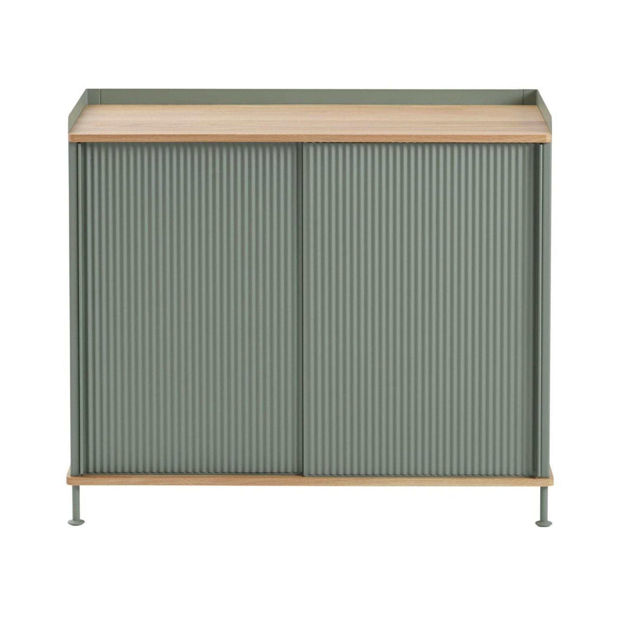 Muuto Enfold Sideboard High , Oak-Dusty Green