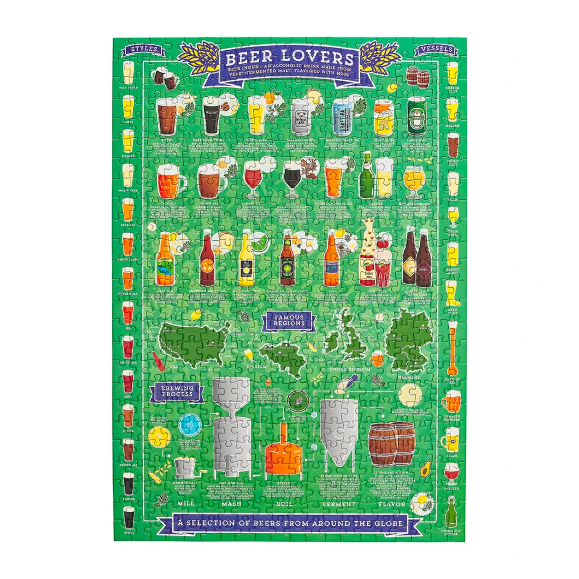 Ridley's Beer Lover's 500-Piece Jigsaw Puzzle
