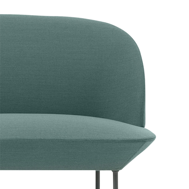 Oslo sofa, 3-seater, steelcut trio 966 teal, dark grey leg