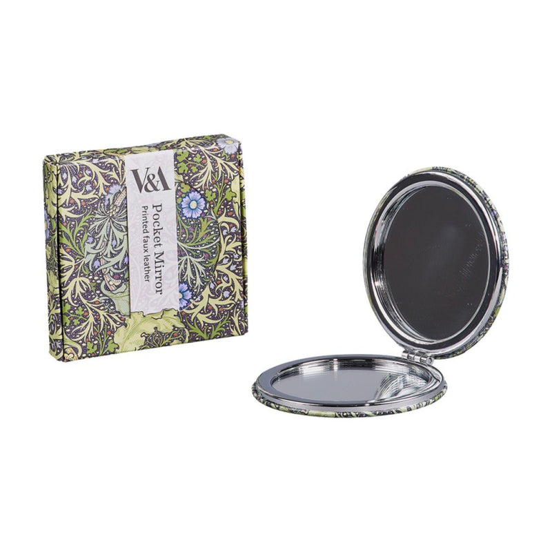 V&A William Morris Compact Mirror , Seaweed