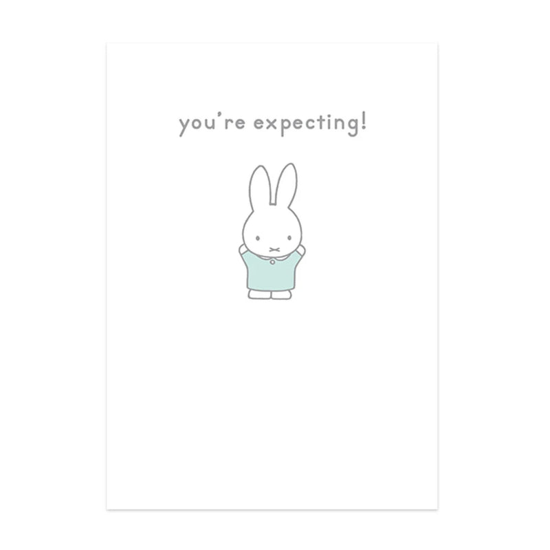 Hype Miffy message card, you're expecting