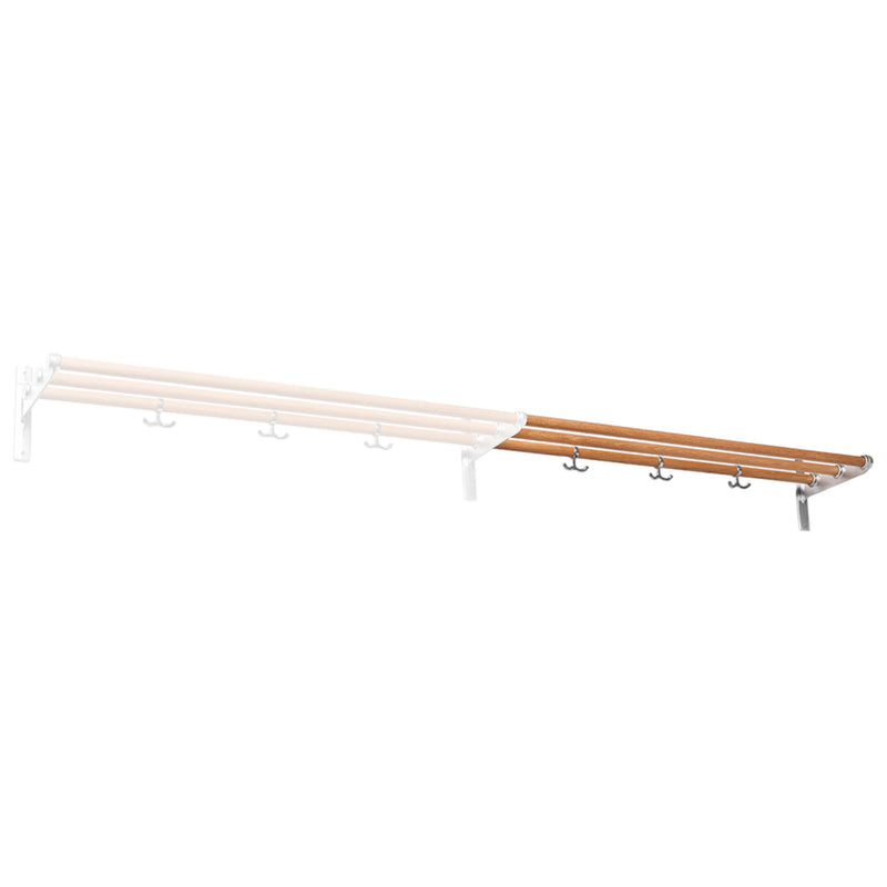 Essem Design Nostalgi hat/ shoe rack, aluminium - oak