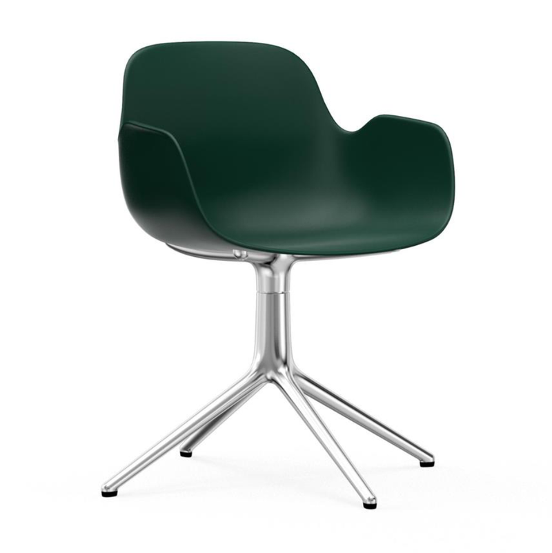 Normann Copenhagen Form Armchair Swivel Aluminium Base