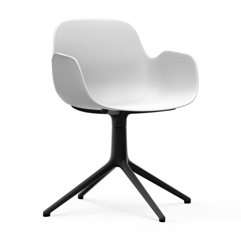 Normann Copenhagen Form Armchair Swivel Black Aluminium Base