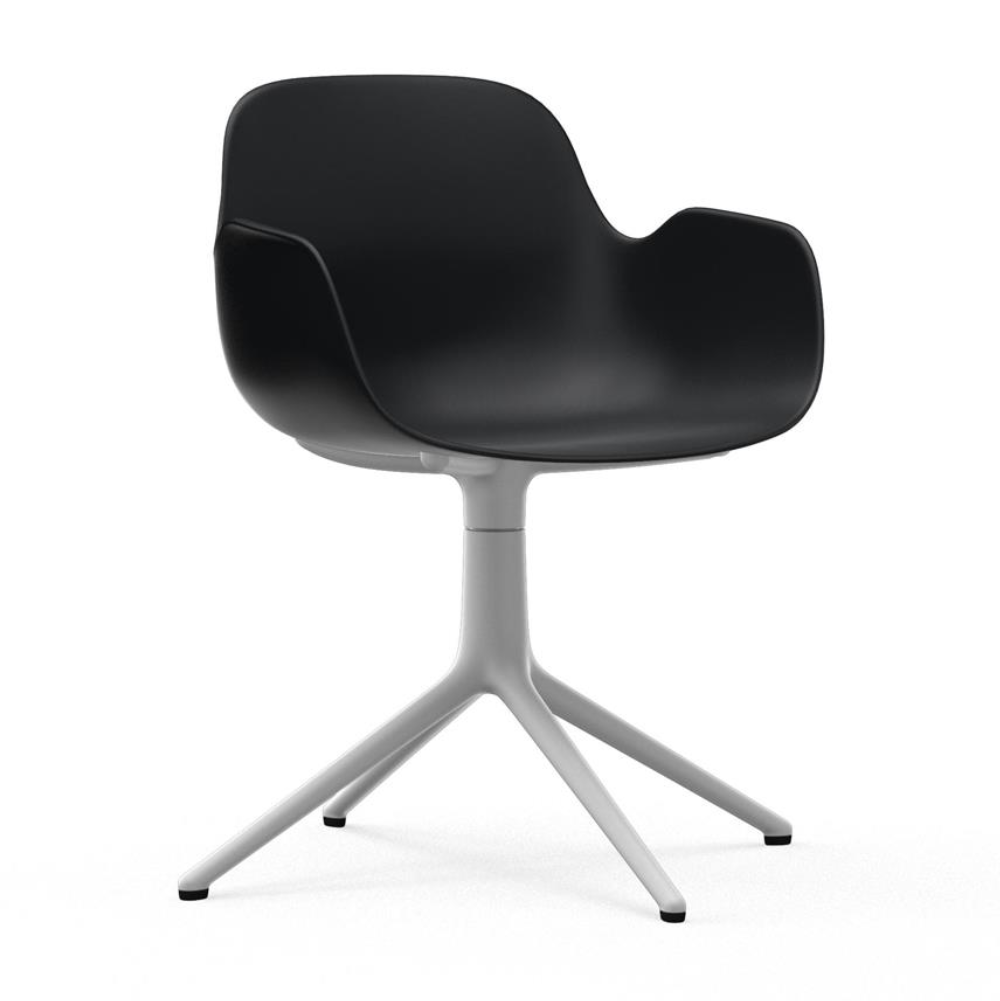 Normann Copenhagen Form Armchair Swivel White Aluminium Base
