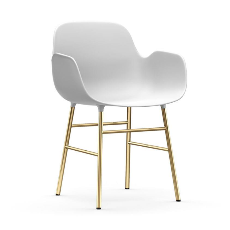 Normann Copenhagen Form Armchair Brass Leg